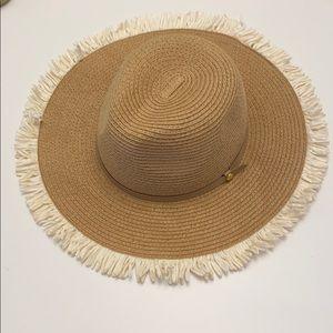 BCBG straw beach hat